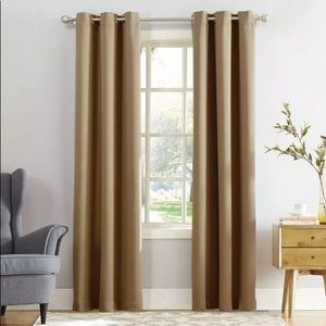 Sun Zero Taupe Blackout Grommet Curtains 40x95